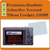 6x Displayschutzfolie Nikon Coolpix S3500 Schutzfolie Klar Folie Displayfolie
