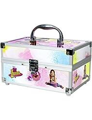 Schmink-Koffer mit umfangreichem Beauty-Set (abziehbarer Nagellack, Lipgloss, Lippenstift u.v.m.) für Fans von Disney's Soy Luna