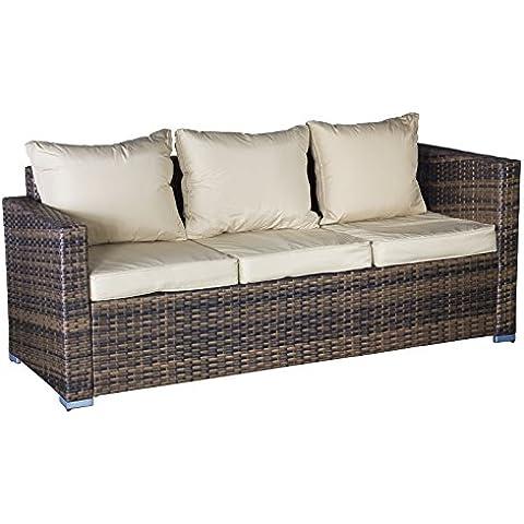 Oseasons® modulare divano 3posti in rattan con alta Braccio