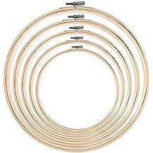 16-40 cm eRadius Kreuzstichrahmen//Ring-Rahmen aus Holz 10-45 cm
