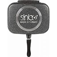 Sinbo Double Sided Granite Pan Grill, Black, SP-5218