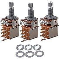 yibuy A250K OHM Audio Volume Chitarra Push Pull potenziometro interruttore, confezione da 3