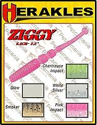 Artificial Colmic Herakles Ziggy Shad Light Spinning Rock Fishing Trucha 5,5cm, Glow