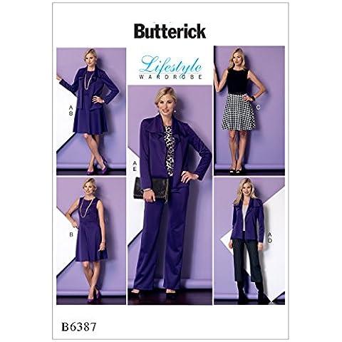 Butterick Patterns Misses/Petite giacca, vestito e pantaloni, Multicolore, taglie 14–22