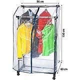ArtMoon Anti Duster Housse de Protection Portants Vetements Penderie Transparente 150X60X96cm