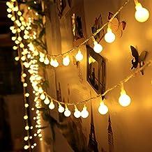 Innoo Tech - Guirnalda Luces 10m, 100 LED Bombillas Blanco, Cálido Decoración de Navidad, Patio, Boda, Dormitorio, Fiesta de Cumpleaños, Reunión entre Familiares y Amigos (Enchufe Vesión Europea)