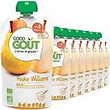 Good Goût - BIO - Gourde de Purée de Fruits Poire Williams dès 4 mois - 8 gourdes de 120 g