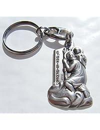 Sportslight St Christophe Porte-clés en métal Poli dans Une boîte Cadeau 75a9406d143