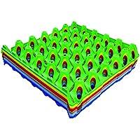 Huevera de plástico de Shorefields Eton, varios colores, 10 unidades, bandeja para 30 huevos, rosso