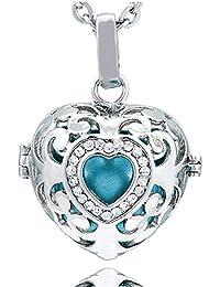 1f56e418b552 Morella Collar ángel de la Guarda de Acero Inoxidable 70 cm con Colgante  Amor-corazón
