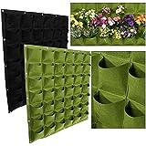 42bolsillos bolsas de plantación Jardinería de colgar en la pared maceta interior y exterior para vertical GREENING crecer bolsas flor creciente contenedor
