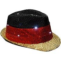 Classic Line Partytime 0894-004 - Deutschland LED Leucht-Paillettenhut, schwarz/rot/gelb