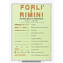 Forli and Rimini Provincial Road Map (1:150, 000)