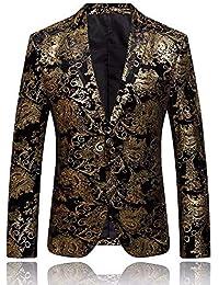 LANSKRLSP Uomo Giacca Elegante Vestito da Uomo Slim Fit Cappotto Giacca  Blazer in Paillettes Uomo Giacca bdde44777dc