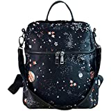 Aisa Fashion Galaxy Star Universe Space Printing School Backpack Synthetic Oxford Casual Daypack Traval Tote Shoulder Bag