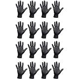 Lurrose 50 Stuks Wegwerp Handschoenen Veiligheid Werkhandschoenen Voor Voedsel Handvat Of Industrieel Gebruik Zwart S