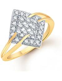 VK Jewels Fine Design (CZ) Gold And Rhodium Plated Ring - FR1033G [VKFR1033G]