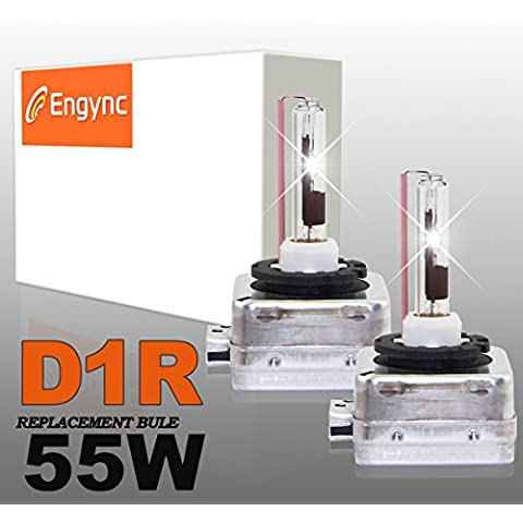 Engync® 55W D1R OEM xenón HID bombillas de los faros (Pack de 2) | Alta / Baja color de oro amarillo (3000K)
