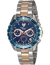 Swiss Eagle Analog Blue Dial Men's Watch - SE-9084B-TTRG-02-SM