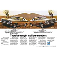 Classic Car pubblicitari e Muscle 1972 Art e per auto Plymouth Duster Ad Digitized & registrata-Re-Poster, motivo: