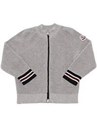 MONCLER 5891V Felpa Bimbo Full Zip Grey Sweatshirt Cotton Boy Kid
