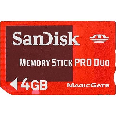SanDisk SDMSG-004G-B46 Tarjeta de memoria Memory Stick Pro Duo de 4 GB rojo