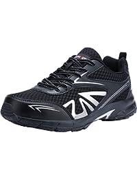 LARNMERN Zapatillas de Seguridad Hombre Cómodas,S1 SRC Zapatos de Trabajo con Punta de Acero Ultraligero Transpirables