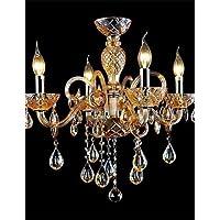 Goud lampadario 4-LIGHT lo stile di lampadario in vetro del Palazzo con una lampadina di candela,