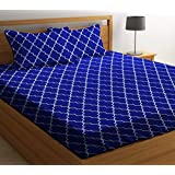 ZCI Bedsheet for Double Bed_ Cotton King Size 120 TC (Multicolor_Set of 1 Double Bed Sheet with 2 Pillow Covers)_Multi_11