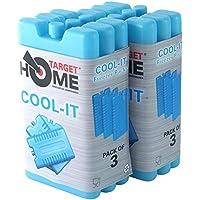 Bloques para congelador de Target Homewares® reutilizables, enfría y mantiene los alimentos frescos. Úsalos con una nevera para mayor refrigeración, Pack de 6