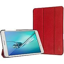 Samsung Galaxy Tab S2 9.7 Funda, JETech Slim Fit Galaxy Tab S2 T810/T815C 9.7 Smart Funda Carcasa con Stand Función y Imán Incorporado para el Sueño/Estela para Samsung Galaxy Tab S2 9.7 pulgadas (Rojo)