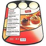 KAISER Muffin-Set 2-teilig Muffinform Papierbackförmchen weiß Creativ Blech Papier Handwäsche