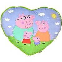Peppa Pig - Cojín en forma de corazón, diseño familia, 60 cm (United Labels 810591)