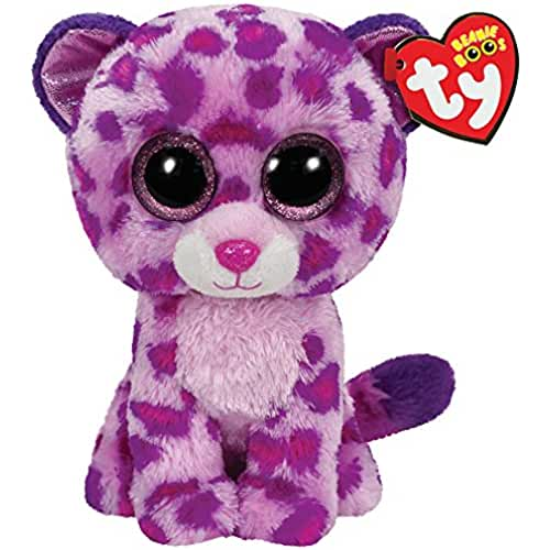 peluches TY - Glamour, peluche leopardo, 15 cm, color rosa (36085TY)
