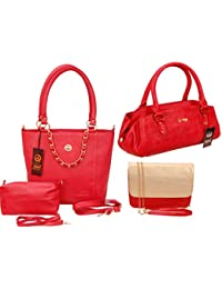 Anemone Women's 2 Shoulder Bag And Sling Bag Combo Of Red's