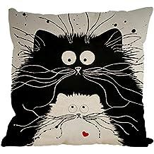 Nunubee Kissenbezug Schwarze Und Weiße Katzen Nordisch Stil Industrial Deko  Kissen Deko Wohnzimmer Autodekoration Sofa Cover
