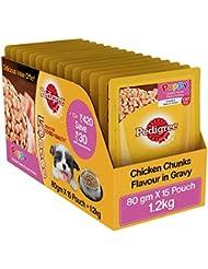 Pedigree Puppy Dog Food Gravy Pouch, 1.2 kg (Pack of 15)