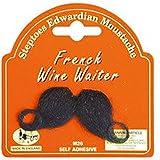 De camarero de la Polinesia francesa para botellas de vino cinta autoadhesiva de protección para adhesivos redondos para colgar modelo para disfraz para el cartílago de bigote negro