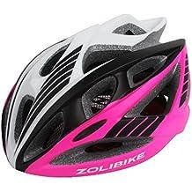 248g Peso ultra ligero - casco especializado de la bici, casco de ciclo ajustable del deporte Cascos de la bici de la bicicleta para el camino y el Biking de la montaña, motocicleta para los hombres y las mujeres adultos, juventud - carreras, protección de la seguridad Muchachos y muchachas adolescentes - cómodo, ligero, respirable ( Color : Pink )