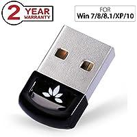 Avantree USB Bluetooth 4.0 Adaptateur Dongle pour PC Windows 10, 8, 7, XP, Vista, Plug & Play ou Pilote IVT, Pour équipements Bluetooth, Casques, Enceintes, Souris, Clavier - DG40S [2 ans de Garantie]