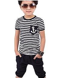 Covermason Niños Armada Rayas camiseta y Pantalones (1 conjunto)