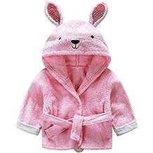 mainaisi bebé toallas de albornoz con capucha de algodón Cartoon Animal Wrap para bebé ...