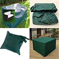 LU2000 Impermeable ya prueba de polvo resistente al aire libre Salón Sofá Loveseat cubierta de patio Cubierta de muebles de patio al aire libre Verde - Talla grande