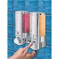 Aviva - Dispensador de jabón doble (acabado cromado)