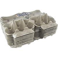 Eton, gratis gama, color blanco con parte superior plana, Pre impresa cajas de huevo, pack de 201/2DOZ