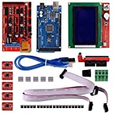 Robocraze 3D Printer DIY kit with Mega 2560 board, Ramps1.4 Shield, A4988 with Heat Sink, 12864 Smart LCD and USB Cable | 3D