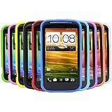 iTALKonline HTC One X 10 Stück LILA ROT Grün BLAU GELB SCHWARZ Weiche Silikon Schutz Armour Skin Hülle Shell
