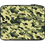 """Snoogg Camo Green Military 2764 15"""" Inch To 15.5"""" Inch To 15.6"""" Inch Laptop Netbook Notebook Slipcase Sleeve Soft Case Cover Bag Notebook / Netbook / Ultrabook Carrying Case For Macbook Pro Acer Asus Dell Hp Sony Toshiba"""