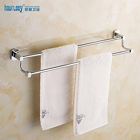 Cremagliera in ottone massiccio doppio asciugamano rack bagno asciugamano bagno