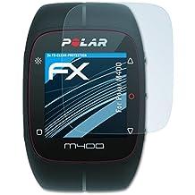 3 x atFoliX Lámina Protectora de Pantalla Polar M400 Película Protectora - FX-Clear ultra transparente